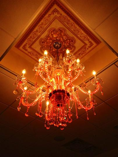 lighted chandelier