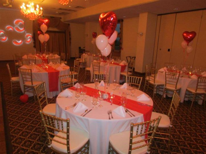 round table decorated with balloons