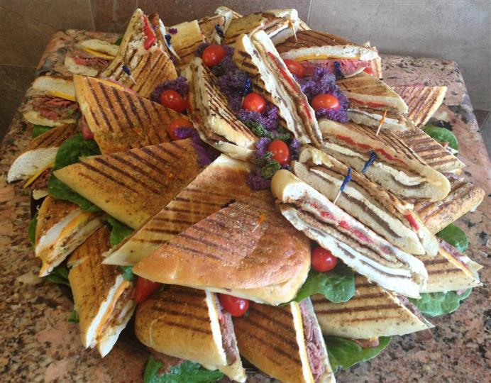 Panini arranged on each other