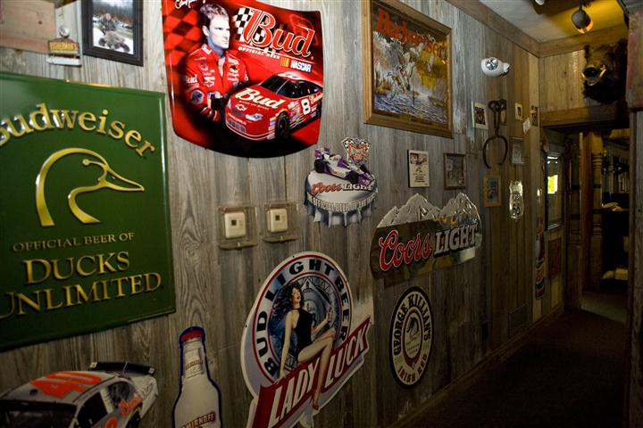 Beer brand decorations