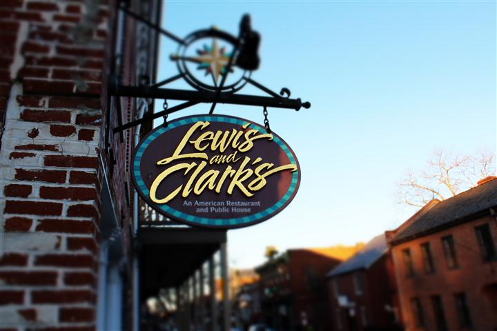 Lewis and Clark's Sign outside