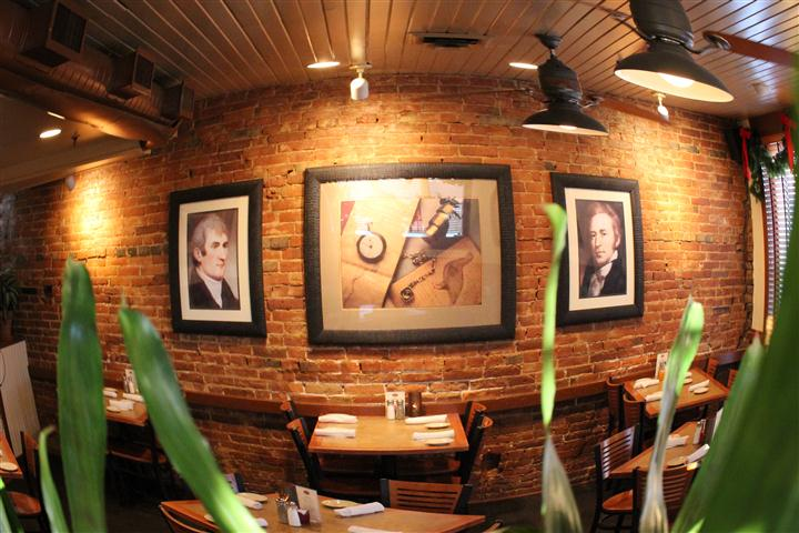 Brick walls with paintings