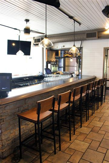 Bar area of restaurant