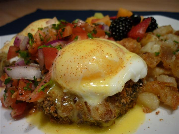 ---- Spicy Black Bean Cakes & Eggs (large)