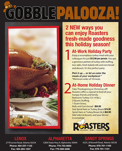 Roasters Thanksgiving Promotion