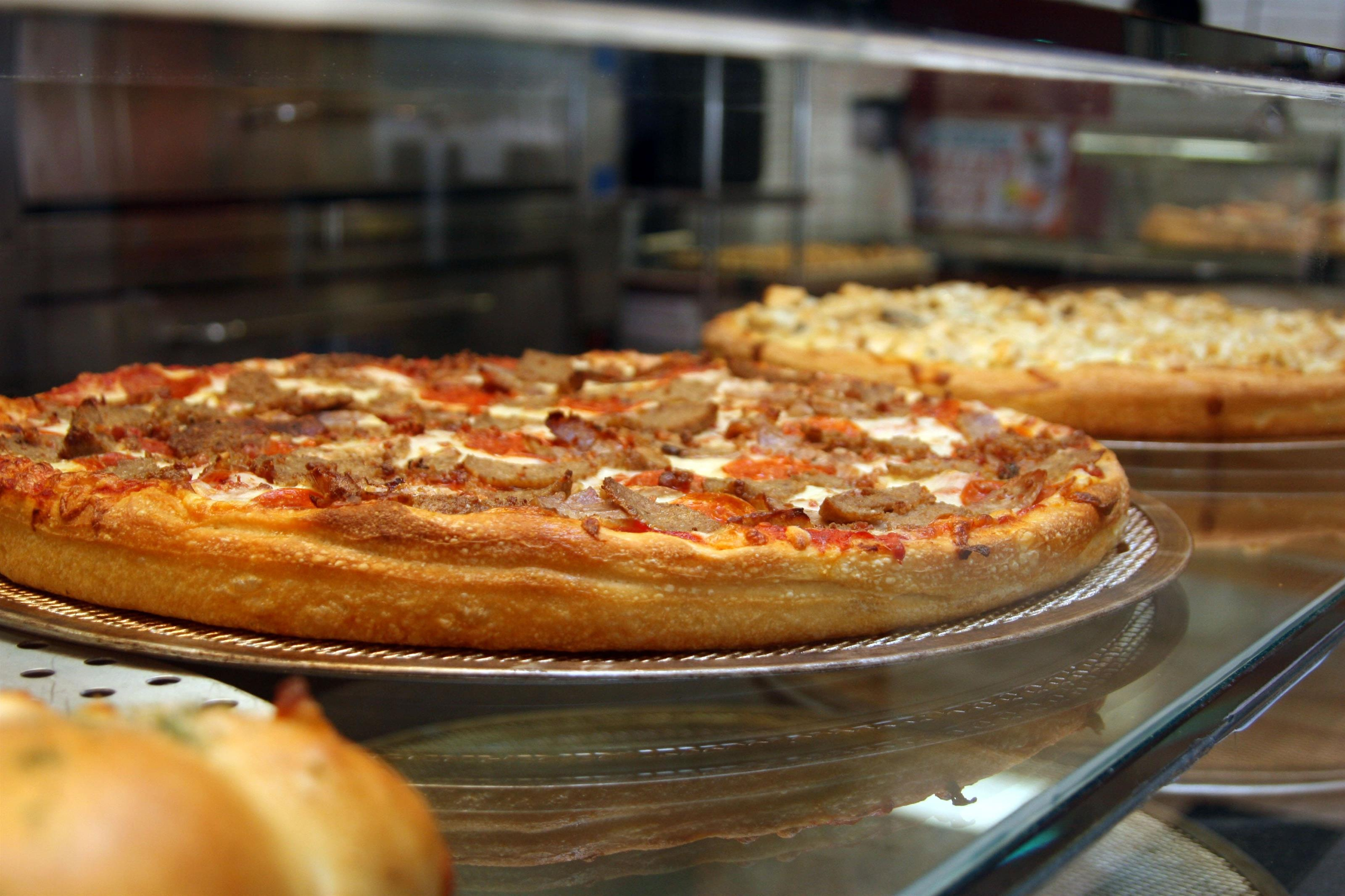 Pizza Pies in Display