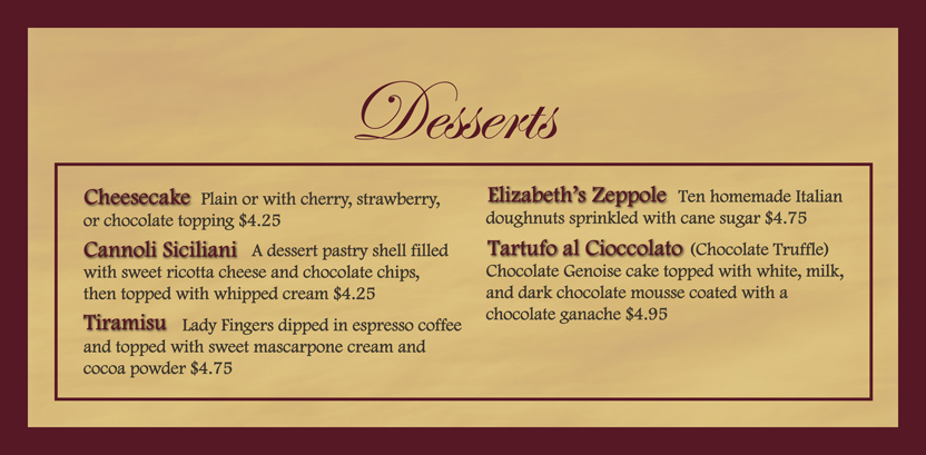 elizabeth s pizza battleground desserts
