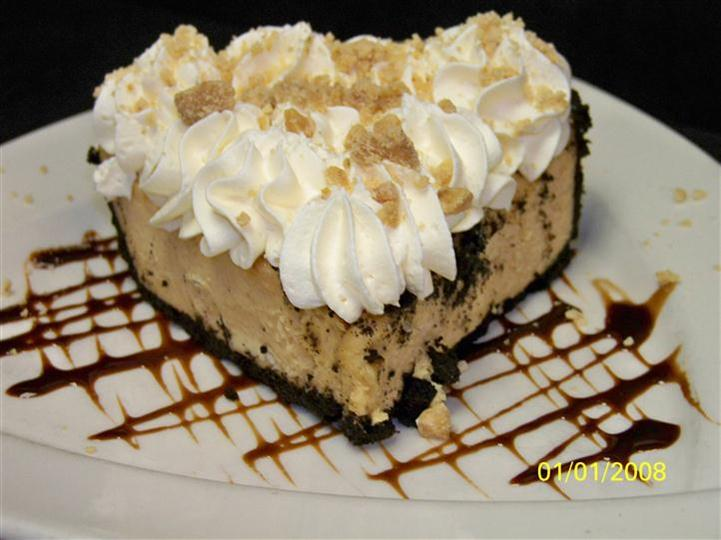slice of pie with chocolate crust
