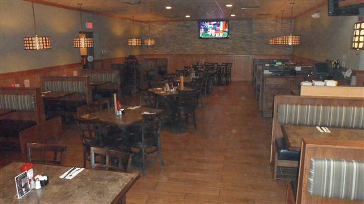 dining tables and booths