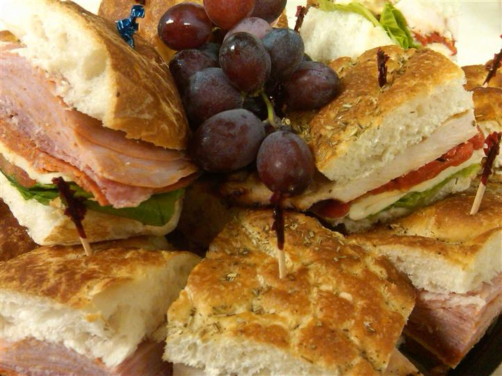 sandwiches and grapes