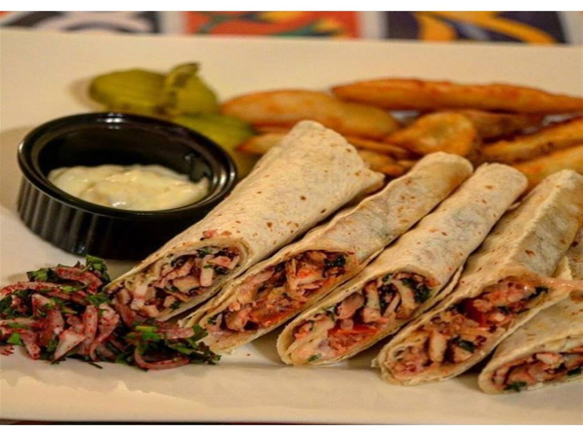 wraps with fries