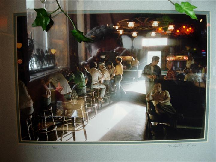 Interior shot of the bar full of people