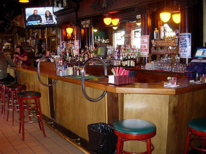 Interior shot of the bar