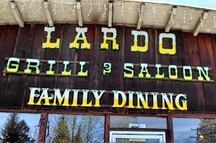 sign reads lardo grill and saloon family dining