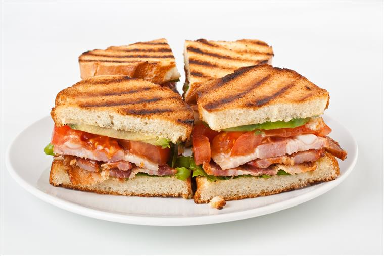 turkey panini with lettuce and tomato