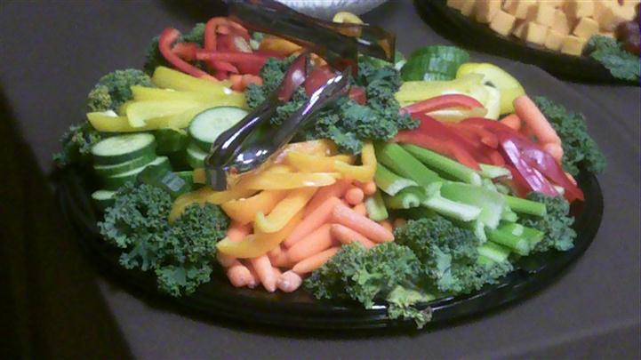 catering assortment of raw vegetables