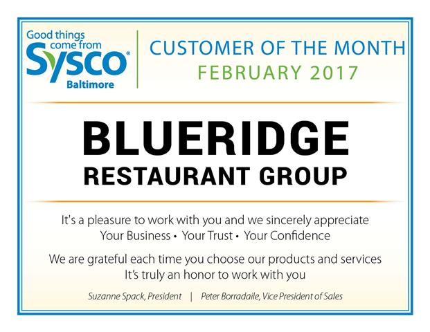 Customer of the Month_February 2017_Blueridge Rest Group