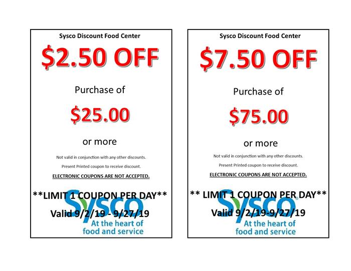 Sysco Discount Food Center - Home