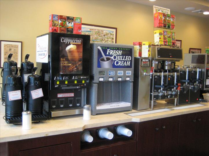 Coffee machine station