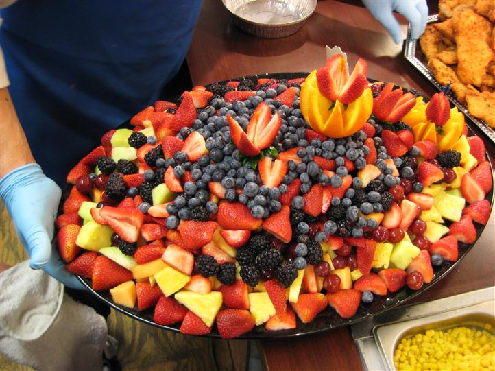 Fruit platter on a table for an event