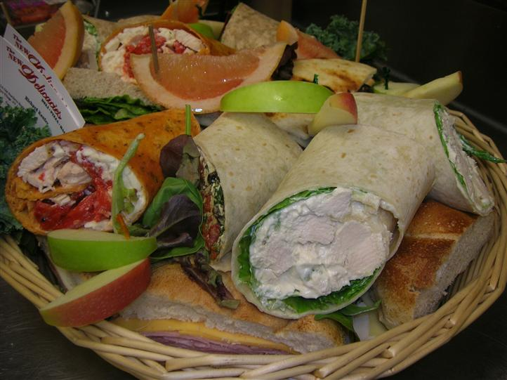 Wraps in a basket for an event