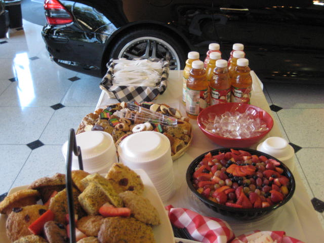 Cookies and juice for a catering event