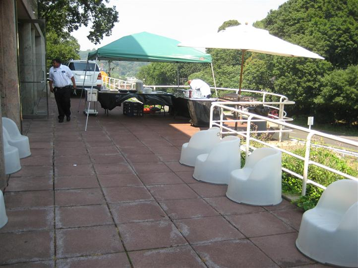 Catering event with tents