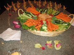 Vegetables in a platter for catering event