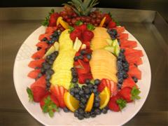 Fruit on platter for an event