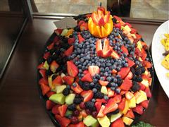 Fruit on a platter for an event