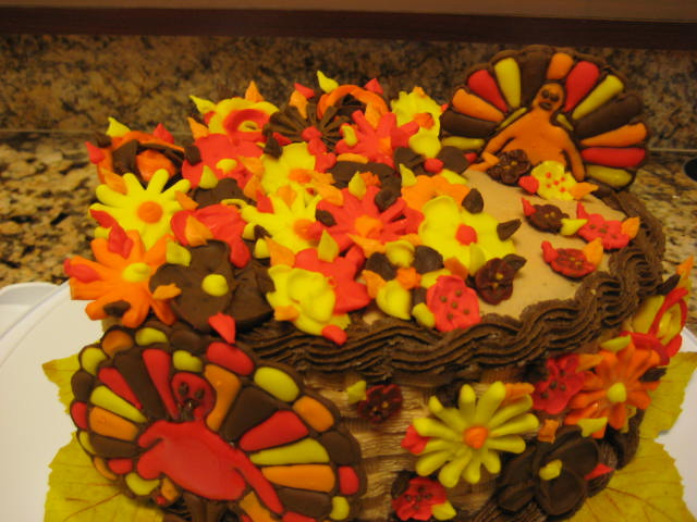 Thanksgiving themed cake