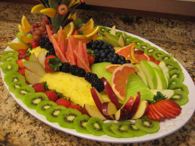 Fruits on a platter