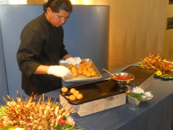 Chef displaying food