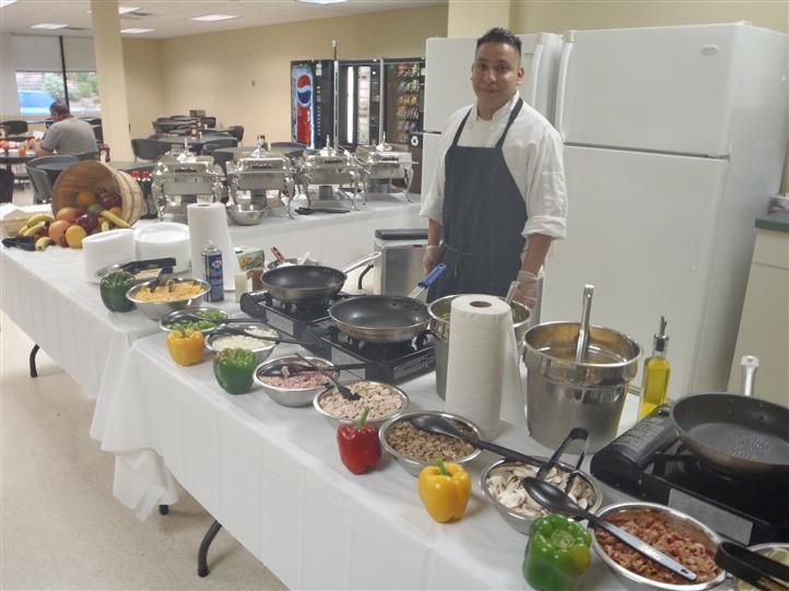 Catering event with multiple food