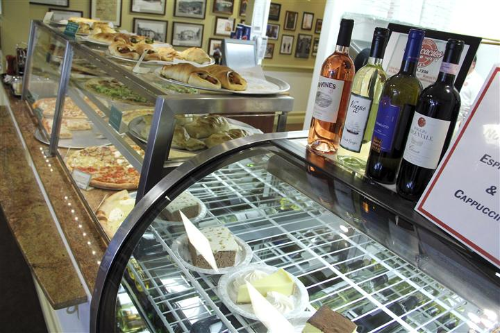 Deli counter with Multiple foods and pastries