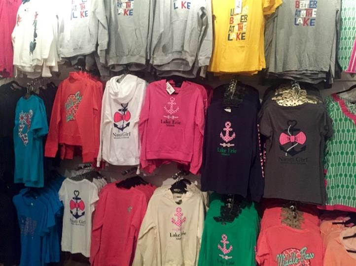 different apparel with anchors on them