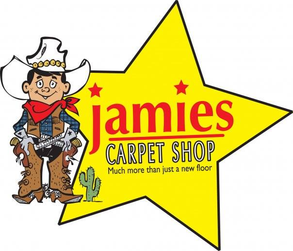 jamies carpet shop - much more than just a new floor logo