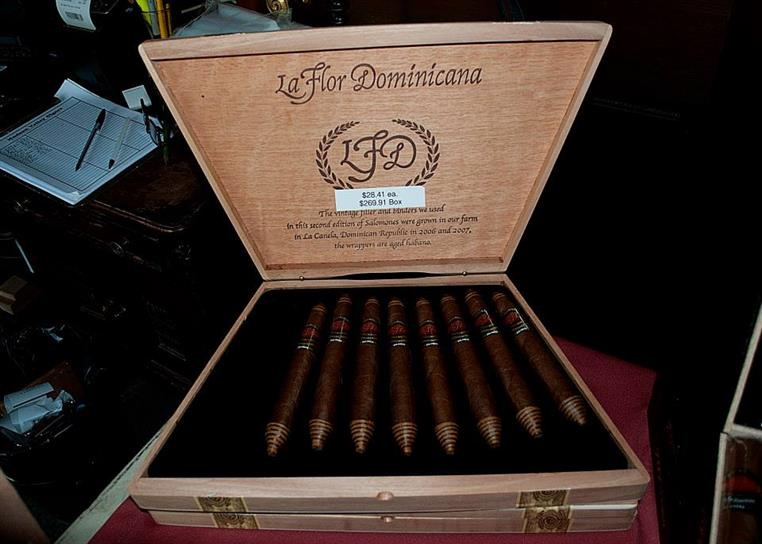Box of La Flor Dominicana cigars