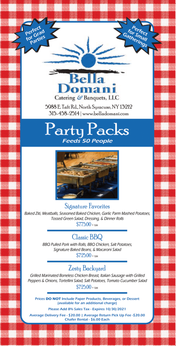 Bella Domani Summer Party Packs (click for PDF)