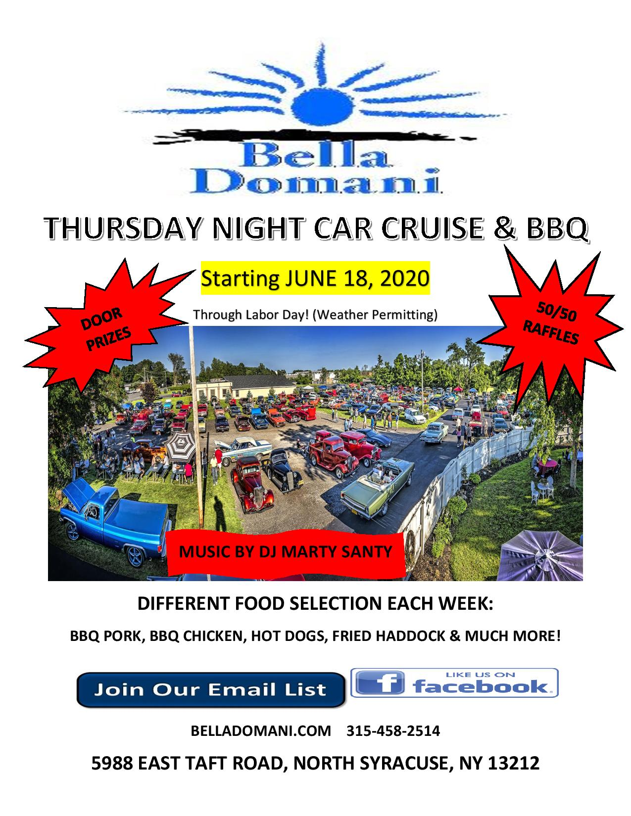 thursday night car cruise and bbq