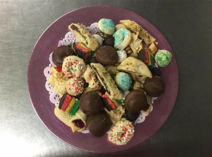 A variety of sweet cookies