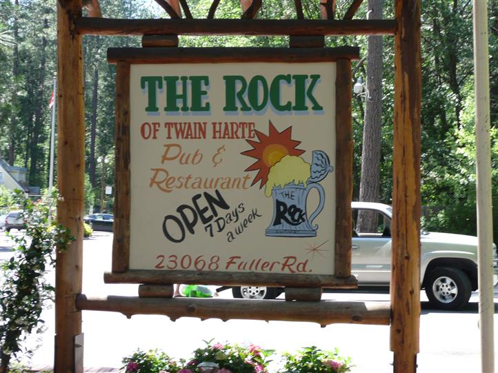 The Rock of Twain Harte Front sign