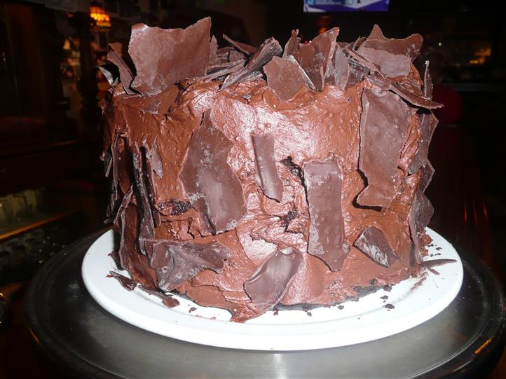 Artistic chocolate cake