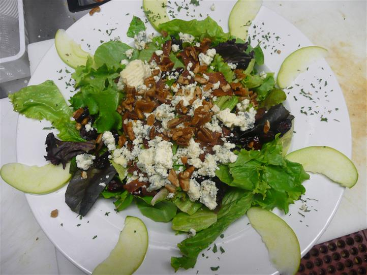 Salad with feta cheese crumbles