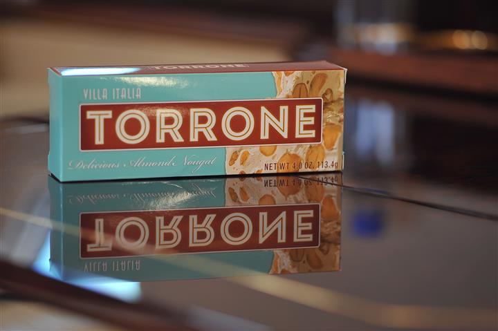 torrone box displayed on a counter