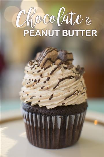 chocolate and peanut butter cupcake