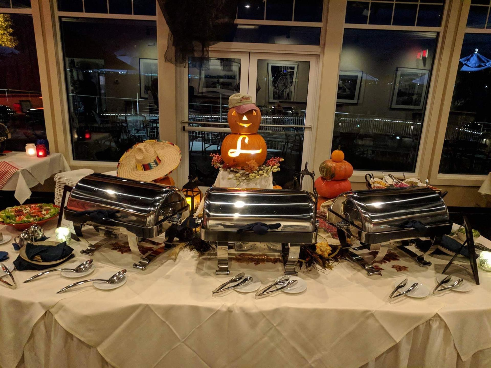 Decorated Buffet Table