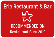 Erie Restaurant & Bar. Recommended on Restauraunt Guru 2019