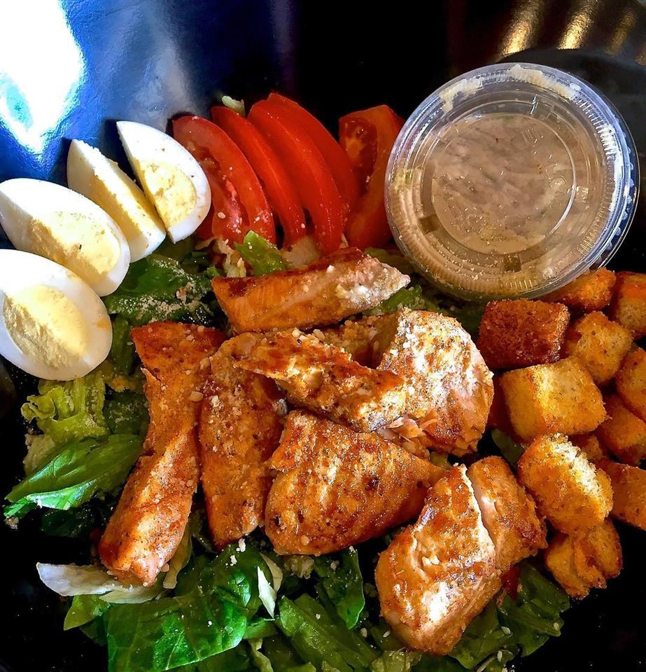 Salad of the Month - Blackened Salmon Caesar Salad