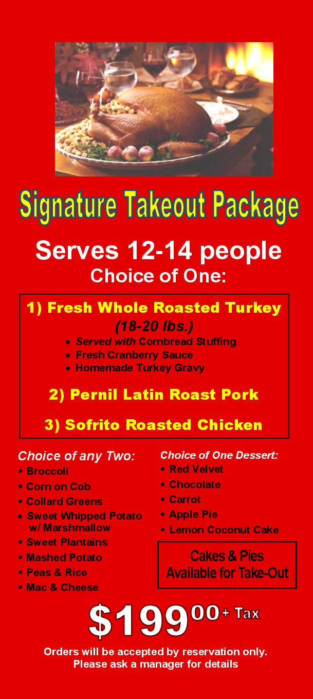Signature Takeout Package